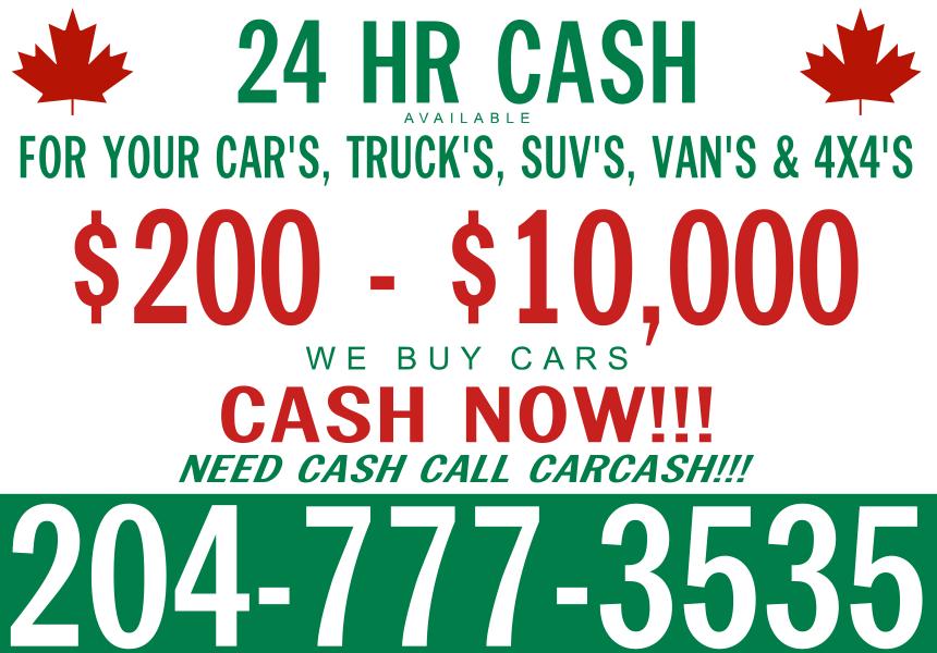 CAR CASH- Scrap Cars Winnipeg- Cash for Your Used Cars, Trucks, Vans ...